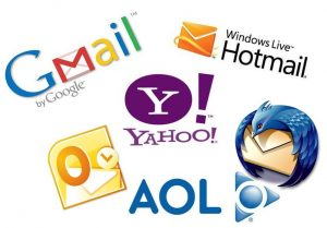 A compilation of eMail service logos
